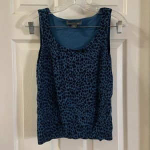 Josephine Chaus Blue Cheetah Animal print tank S
